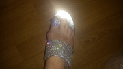 New Diamante and Silver Sandal Size 6