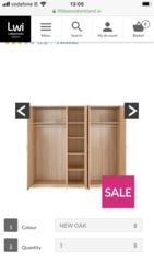Brand new oak 5 door wardrobe