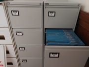 One filing cabinet with keys & 100+ folders